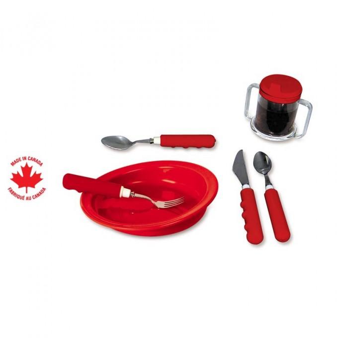 Ensemble de service de table rouge parsons adl for Service de table rouge